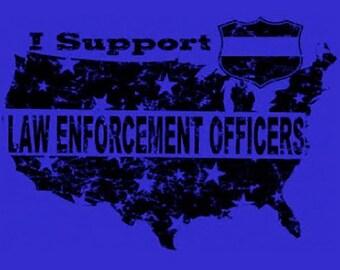 Law Enforcement Support T-Shirt