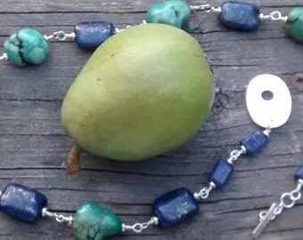 Howlite and Lapis Necklace