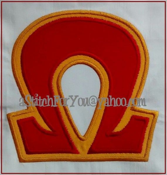 Greek letters sorority omega double applique by astitchforyou