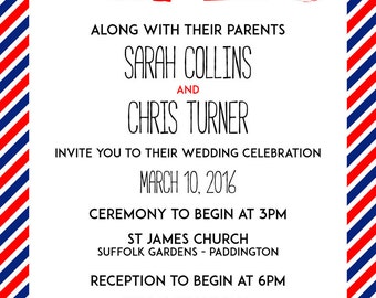 Airmail Invitation Wedding Printable