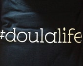 Small Doulalife Doula Crew Neck T-shirt Ready to ship!