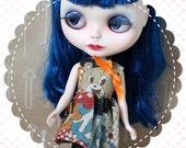 Cutie Bear / One-of-a-Kind Doll Dress for Blythe