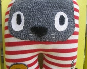 C is for Cat red and white stripey Rag Doll
