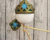 READY TO SHIP Merida Inspired Tiara Crown for Children Adults and or American Girl doll and or Wand Scottish Princess Brave