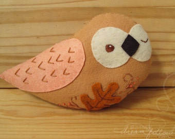 Autumn Leaves plush owl