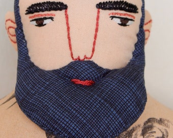 Big Man with Tattoos and Beard doll Circus plush