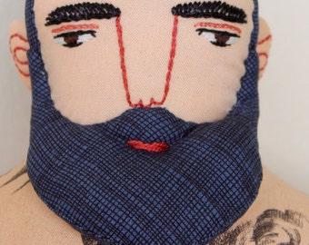 Big Man with Tattoos and Beard doll Circus plush