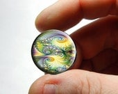 25mm 20mm 16mm 12mm 10mm or 8mm Glass Cabochon Cameo - Fractal Design 3 - for Jewelry and Pendant Making