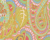 BELLE EPOCH in GREY  by Kaffe Fassett PWGP133 Westminster Fabric / 1/2 yard Cotton, Quilt Craft and Apparrell fabric