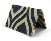 Business Card Wallet - Navy Mod Fabric
