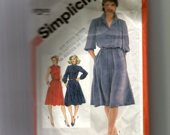 Simplicity Misses'  Pullover Shirtdress Pattern 5242