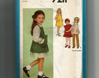 McCall's Girls' Dress and Sundress or Jumper and Pants Pattern 9211