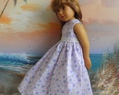 Kidz n Cats Doll Clothes Romantic Lavender Floral Medley Long Dress with Vintage Lace Accents
