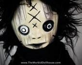 Voodoo Doll Fur Hair Black Magic Skull & Bones Necklace Stuffie - Vex