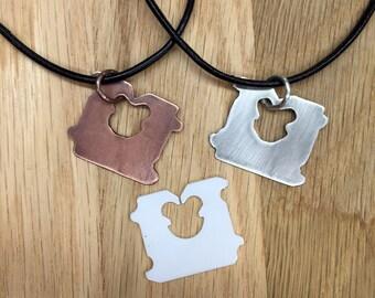 Bread Bag Tag/Clip/Tie Pendant, Sterling Silver or Copper