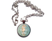 Magnetic Interchangeable Necklace Plus Five Charms - Nautical Theme - Seahorse, Pirate Ship, Starfish, Octopus, Jellyfish