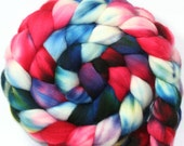 Hand dyed Superwash Merino wool Combed Top-- 4.3 oz.--