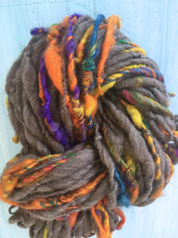 Bulky Yarn Textured Handspun Art yarn crochet knitting