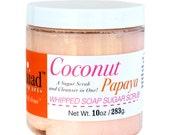 Coconut Papaya Whipped Soap Sugar Scrub