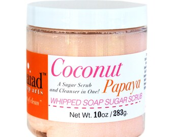 Coconut Papaya Whipped Soap Sugar Scrub