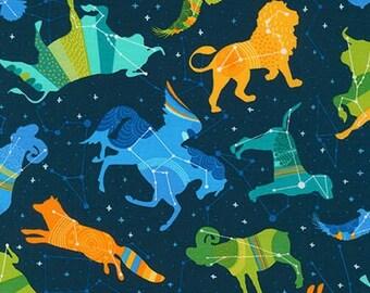 Night Sky Midnight Celestial  Cotton Fabric Robert Kaufman blue - 1 Yard