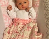 Custom size Boutique Baby layette wholesale gown shower pink toile amoire first pictures baby home