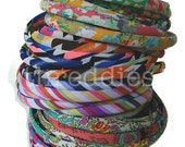 skinny headbands in assorted bright prints // stripes, paisley, dots, abstract, floral