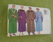 Butterick 3820 Mens Womens Adult Unisex Church Choir Robe and Collar Sewing Pattern All sizes Uncut