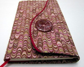 Moleskine 8 x 5 Fabric Notebook Cover, Refillable, Pink Marble