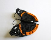 Beaded Red Admiral Butterfly Brooch
