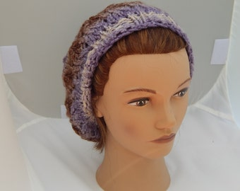 Knitted Lacy Hat for Women