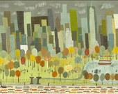 "NYC Art print - Central Park.  Limited edition 24""x36"" print by Matte Stephens."