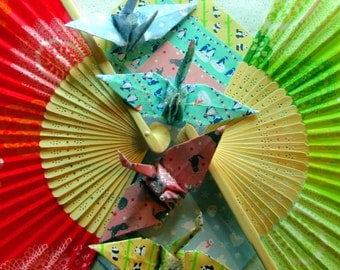 Kawaii Peace Crane Origami Ornament Wedding Cake Topper Party Favor Japanese Paper Place Card Holder Table Decor Christmas Good Deal Set 4