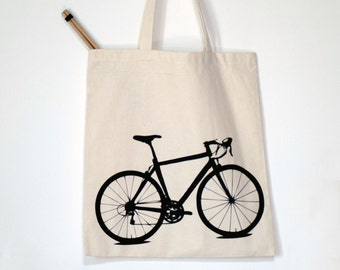 SALE Vital Bicycle - tote - black bike