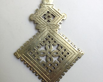 Large Ethiopian Coptic Cross, silver cross, Coptic Cross pendant, Ethiopian pendant, silver pendant