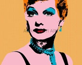 Lucille Ball Lucy printable download poster hollywood glam famous movie star tv print download pop art