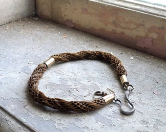 1868 Victorian Wedding Gift Woven Hair Watch Fob