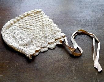 Antique Silk Baby Bonnet
