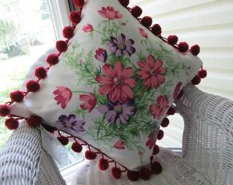 Repurposed Wilendur Cosmos Pillow