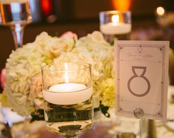 Great Gatsby Inspired Table Number Cards