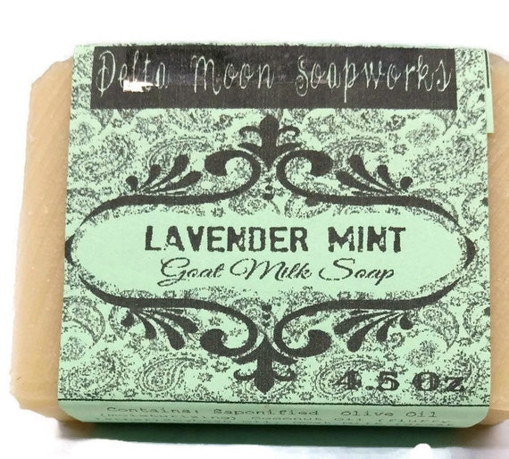 Lavender Mint Goat Milk Soap , All Natural Soap, handmade soap,Cold Process Soap,  essential oil soap, handmade lavender soap, unisex soap