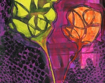 Bloom Your Way - An Original Mixed Media Painting by Abi Bell