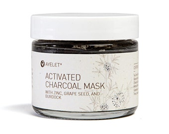 Clarifying Activated Charcoal Mask|Blemish Acne MasK| Zinc Pimples Mask| Breakout Mask| Clay Tea Tree Mask| Oily Skin Mask| Chemical Free