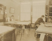 Digital Download Antique Old Vintage Picture Photo Photograph Drafting Business Young Men Early 1900s Sepia 600 dpi