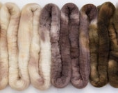Handpainted Bluefaced Leicester Wool Roving in Chocolate Ombré by Blarney Yarn