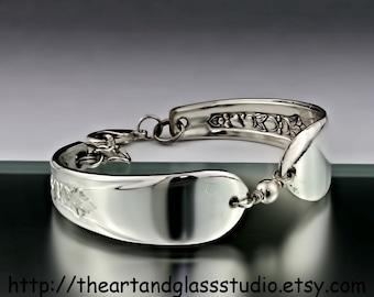 Silver Spoon Bracelet LADY ANN Jewelry Vintage, Silverware, Gift, Anniversary, Wedding, Birthday