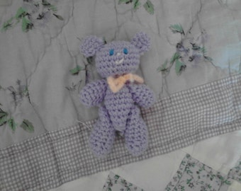4in Lavender Teddy Bear