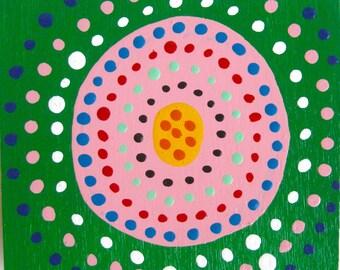 original painting / 4625 / You Got A Shot / circle circle dot dot dot