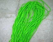 Neon Green Hand Dyed  100% Silk Cords Strings for Kumihimo Braids, Necklaces, Bracelets