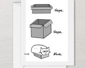 Angry Cat in a Shoe Box - Funny Card for Cat Lovers